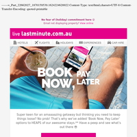 So good! Book Now, Pay Later stays 🙌