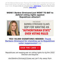 Barbra Streisand just HUMILIATED Republicans. YES!!!