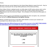 Are you sick of Democrat Corruption?