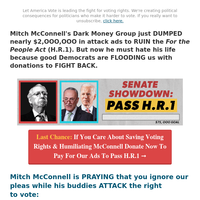 Mitch McConnell hates his LIFE