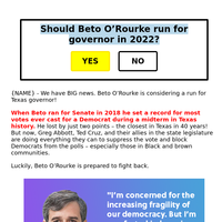 Should Beto run???