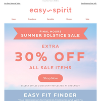 30% OFF All Sale—ENDS TONIGHT!