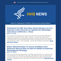 Affordable Care Act Decision & More