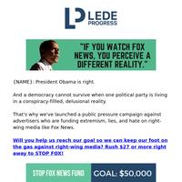 Obama takes on Fox News