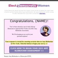 re: Senator Amy Klobuchar