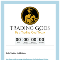 Friend,  sale closes in 60 minutes!   TradingGods.net