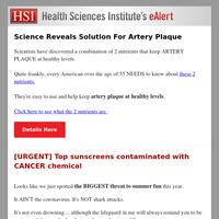 Scientific Study Reveals Solution For Artery Plaque