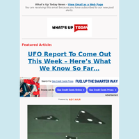 UFO Report Coming Out This Week