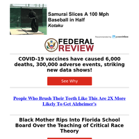 Striking New Data Shows COVID-19 Vaccines Have Caused Over 300,000 Adverse Events...