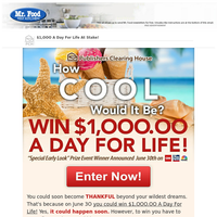 Win $1,OOO.OO A Day For Life!