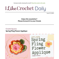 Spring Fling Flower Applique and Tips for Left Handed Knitters Who Want to Crochet