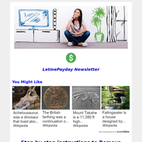 Hey, Your LetmePayday Newsletter For 21 June