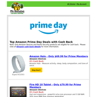 Amazon Prime Day: Top Amazon Device Deals with Cash Back!