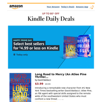 Happy Prime Day: Select best sellers for $4.99 or less on Kindle