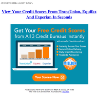 {NAME} , Your transunition Equifax And Experian credit scores, (Expires: Sun, 20 Jun 2021 17:33:55 -0400)