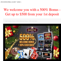 Get up to $500 from your 1st deposit. We welcome you with a 500% Bonus + more