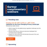 Complimentary IT webinars: Interact with Gartner Analysts