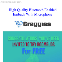 Get Your Free Boom Buds Today - Just Cover S&H