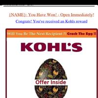 Congrats! You've Received KOHL'S Reward
