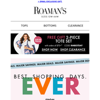 Best. Shopping. Days. EVER. from $7.99