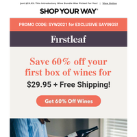 Yes, We Deliver! 6 Wines Shipped FREE for $29.95