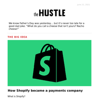 💲 Shopify is a payments company
