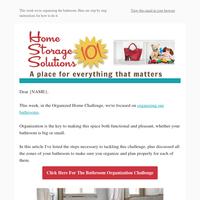 Bathroom Organization: Week #25 of 52 Week Organized Home Challenge
