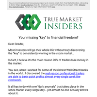 """Your missing """"key"""" to financial freedom?"""