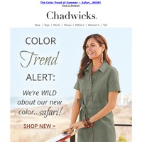 The Color of Summer 2021 ~ We Are Wild About...Safari!