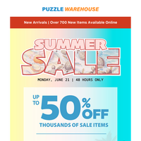 HUGE Summer Sale with Thousands of Puzzles On Sale for 48 hours!