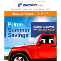 PRIME SUMMER SAVINGS: Red Hot Deals With Up to 70% OFF MSRP 🔥