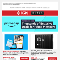 Best of Prime Day: Amazon Gift Card Deal Returns, $199.99 iRobot Roomba, $520 iPad Air (Newest Model), $20 Razer Gaming Mouse & More