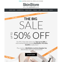 2 Days Only! Up to 50% Off Sale & $66 SkinMedica Gift
