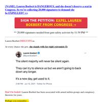 (sign now, {NAME}) EXPEL LAUREN BOEBERT