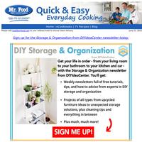 FOUND:  Free DIY Storage and Organization Ideas