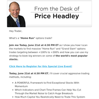 Today's Webinar: Small Account Strategy... How to Hit Options Home Runs!