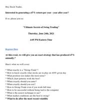 This Strategy Makes 47% Per Year Swing Trading