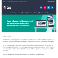Keep all your staff connected with the latest education developments worldwide