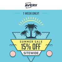 15% off Sitewide 🌴 Summer Sale