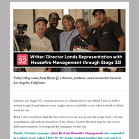 Writer/Director Lands Representation with Housefire Management through Stage 32!