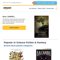 {NAME}: Science Fiction & Fantasy Newsletter
