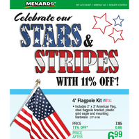 Celebrate Our Stars & Stripes With 11% OFF*!