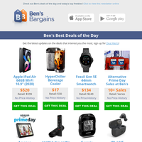 Ben's Best Deals: Prime Day Giveaways - $80 Golf GPS - $520 iPad Air - 25% off Amazon Warehouse - $134 Fossil Smartwatch