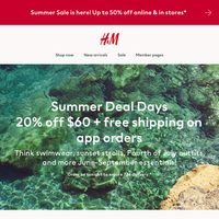 Appy summer! 20% off + free shipping