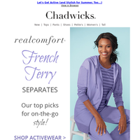 The Chadwicks Activewear Summer Collection ~ French Terry Separates ~ Shop Today