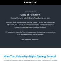 Pantheon Newsletter
