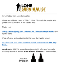 shipping you 2 military G96 gun oil bottles free...