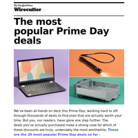 The most popular Prime Day deals