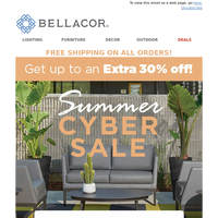 It's On! Summer Cyber Sale up to 30% Off + Free Shipping!