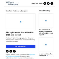 The eight trends that will define 2021–and beyond